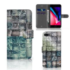 Wallet Case met Pasjes Apple iPhone 7 Plus | 8 Plus Spijkerbroeken