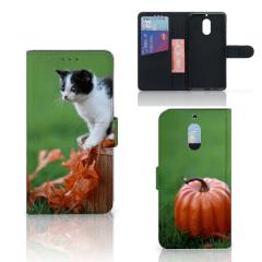 Nokia 6 Telefoonhoesje met Pasjes Kitten