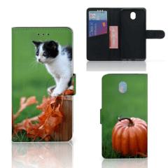 Samsung Galaxy J7 2017 | J7 Pro Telefoonhoesje met Pasjes Kitten