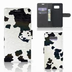 Samsung Galaxy S8 Plus Telefoonhoesje met Pasjes Koeienvlekken