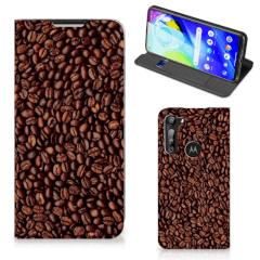 Motorola Moto G8 Power Flip Style Cover Koffiebonen
