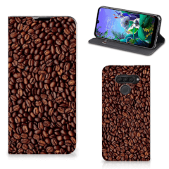 LG Q60 Flip Style Cover Koffiebonen