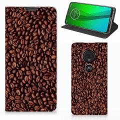 Motorola Moto G7   G7 Plus Flip Style Cover Koffiebonen