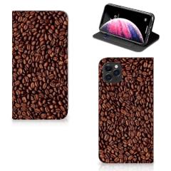 Apple iPhone 11 Pro Max Flip Style Cover Koffiebonen
