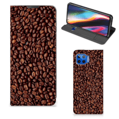 Motorola Moto G 5G Plus Flip Style Cover Koffiebonen