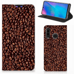 Huawei P30 Lite New Edition Flip Style Cover Koffiebonen