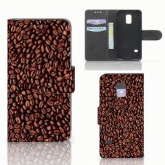Samsung Galaxy S5 Mini Book Cover Koffiebonen