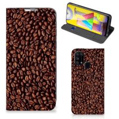 Samsung Galaxy M31 Flip Style Cover Koffiebonen