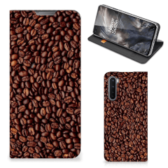 OnePlus Nord Flip Style Cover Koffiebonen
