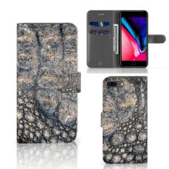 Apple iPhone 7 Plus | 8 Plus Telefoonhoesje met Pasjes Krokodillenprint