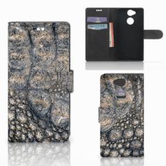 Sony Xperia XA2 Telefoonhoesje met Pasjes Krokodillenprint