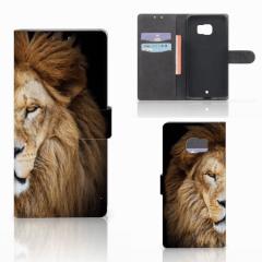 HTC U Ultra Telefoonhoesje met Pasjes Leeuw
