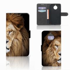 Motorola Moto E4 Plus Telefoonhoesje met Pasjes Leeuw