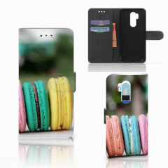LG G7 Thinq Book Cover Macarons