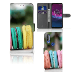 Motorola One Action Book Cover Macarons