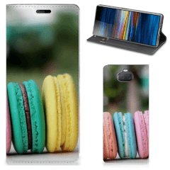 Sony Xperia 10 Flip Style Cover Macarons