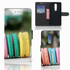 Nokia 3.1 Plus Book Cover Macarons