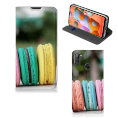 Samsung Galaxy M11   A11 Flip Style Cover Macarons