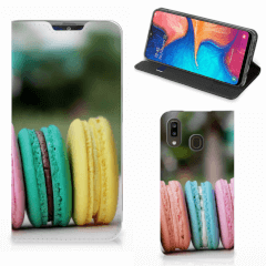 Samsung Galaxy A30 Flip Style Cover Macarons