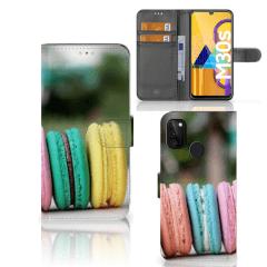 Samsung Galaxy M21 Book Cover Macarons