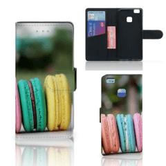 Huawei P9 Lite Book Cover Macarons