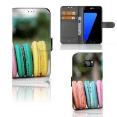 Samsung Galaxy S7 Edge Book Cover Macarons