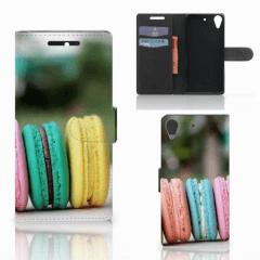 HTC Desire 628 Book Cover Macarons