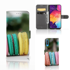 Samsung Galaxy A50 Book Cover Macarons