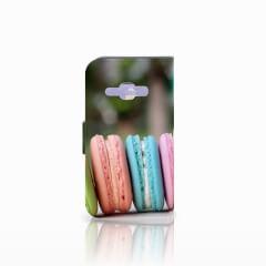 Samsung Galaxy J1 2016 Book Cover Macarons