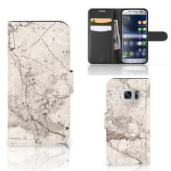 Samsung Galaxy S7 Bookcase Marmer Beige