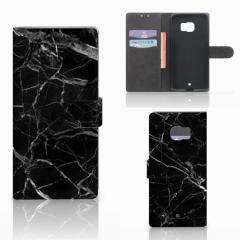 HTC U Ultra Bookcase Marmer Zwart - Origineel Cadeau Vader