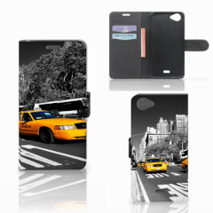 Wiko Rainbow Jam Flip Cover New York Taxi