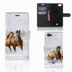 Wiko Pulp Fab 4G Telefoonhoesje met Pasjes Paarden