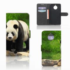 Motorola Moto E4 Plus Telefoonhoesje met Pasjes Panda