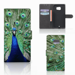 HTC U Ultra Telefoonhoesje met Pasjes Pauw