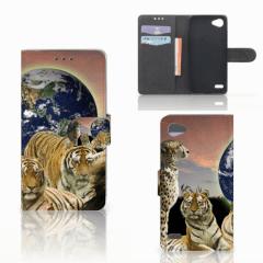 LG Q6 | LG Q6 Plus Telefoonhoesje met Pasjes Roofdieren