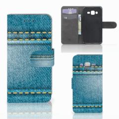 Samsung Galaxy J3 2016 Wallet Case met Pasjes Jeans