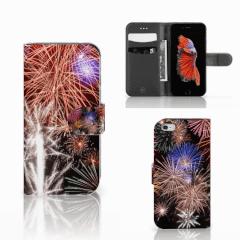 Apple iPhone 6 | 6s Wallet Case met Pasjes Vuurwerk