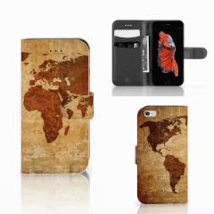 Apple iPhone 6   6s Flip Cover Wereldkaart