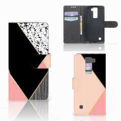 LG K8 Bookcase Zwart Roze Vormen