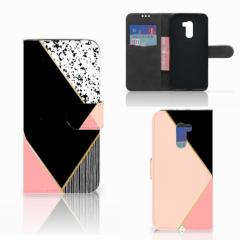 Xiaomi Pocophone F1 Bookcase Zwart Roze Vormen