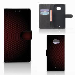 HTC U Ultra Telefoon Hoesje Geruit Rood