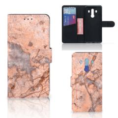 Huawei Mate 10 Pro Bookcase Marmer Oranje