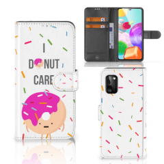 Samsung Galaxy A41 Book Cover Donut Roze
