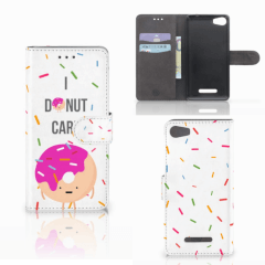 Wiko Lenny 2 Book Cover Donut Roze