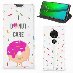 Motorola Moto G7   G7 Plus Flip Style Cover Donut Roze