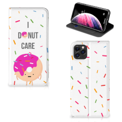 Apple iPhone 11 Pro Max Flip Style Cover Donut Roze