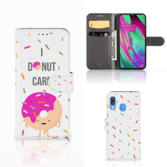 Samsung Galaxy A40 Book Cover Donut Roze