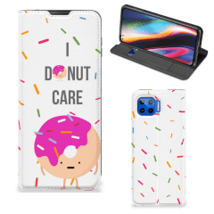 Motorola Moto G 5G Plus Flip Style Cover Donut Roze