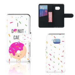 Samsung Galaxy S6 Edge Book Cover Donut Roze